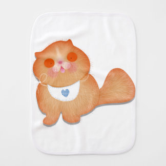 Cute cat illustration gift by Gemma Orte Designs Burp Cloth