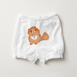 Cute cat illustration gift by Gemma Orte Designs Diaper Cover