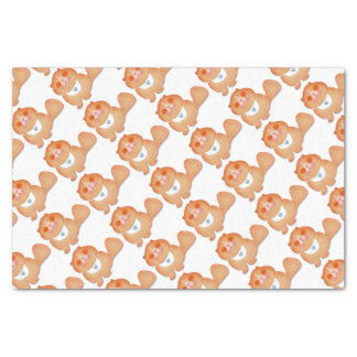 Cute cat illustration gift by Gemma Orte Designs Tissue Paper