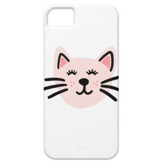Cute cat illustration iPhone 5 case