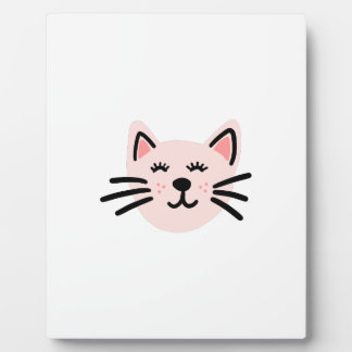 Cute cat illustration plaque