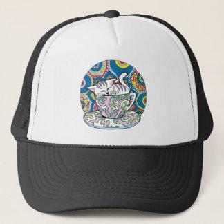 Cute Cat in a Cup Trucker Hat
