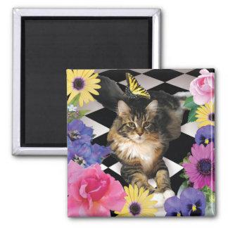 Cute Cat in Fantasy Garden magnet