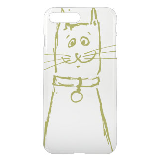 Cute cat iPhone 7 plus case green