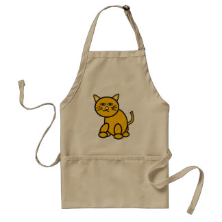 Cute cat kitchen apron