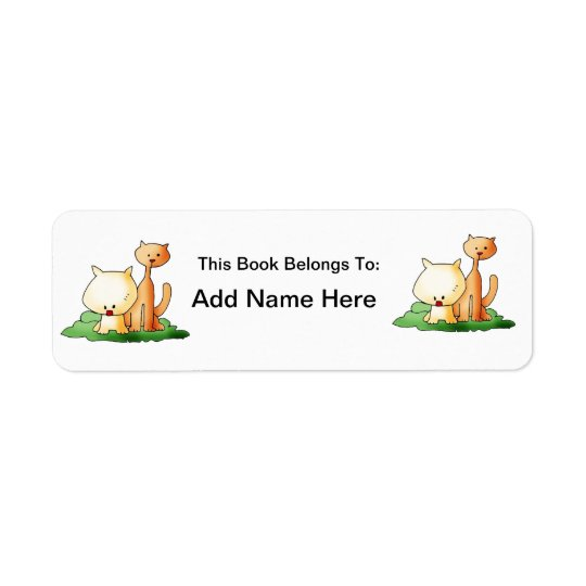 Cute cat   Label