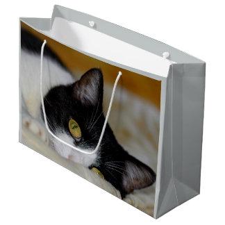 Cute cat large gift bag