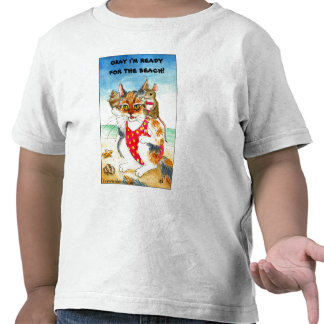 Cute Cat & Mouse Beach Summer Vacation Tees