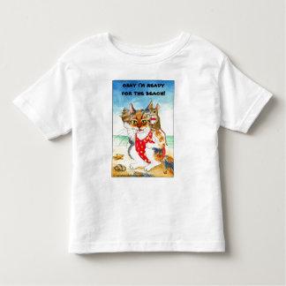 Cute Cat & Mouse Beach Summer Vacation Shirts