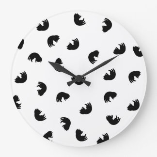 CUTE Cat Pattern Black and White Wallclocks