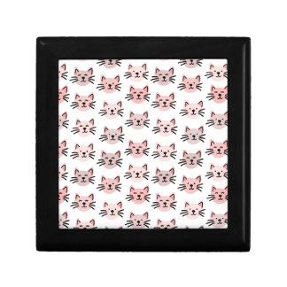 Cute cat pattern gift box
