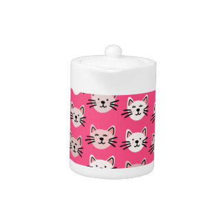 Cute cat pattern in pink