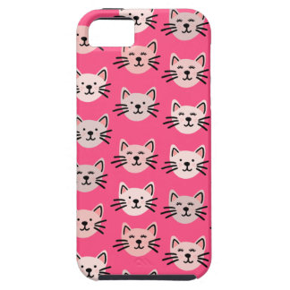 Cute cat pattern in pink case for the iPhone 5