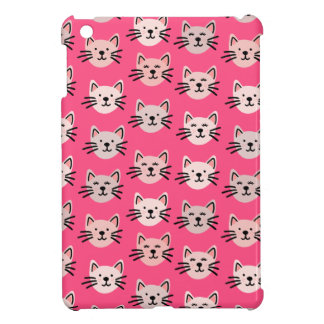 Cute cat pattern in pink cover for the iPad mini