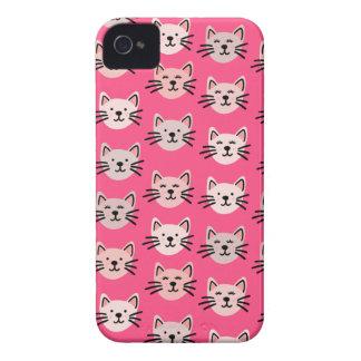 Cute cat pattern in pink iPhone 4 cover