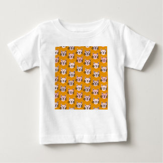 Cute cat pattern in yellow mustard baby T-Shirt