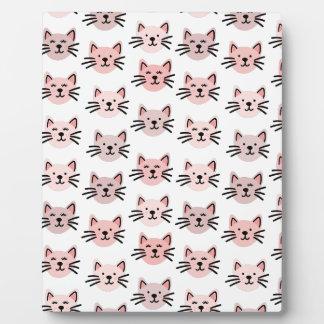 Cute cat pattern plaque