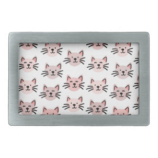 Cute cat pattern rectangular belt buckles