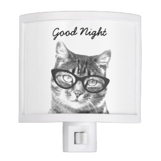 Cute cat photo night light for kids bedroom