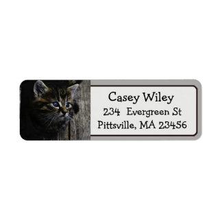 Cute Cat Photo Return Address Label