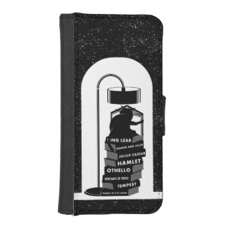 Cute Cat Reading Shakespeare Plays iPhone SE/5/5s Wallet Case