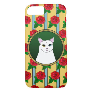 Cute Cat Rose cartoon iPhone Case