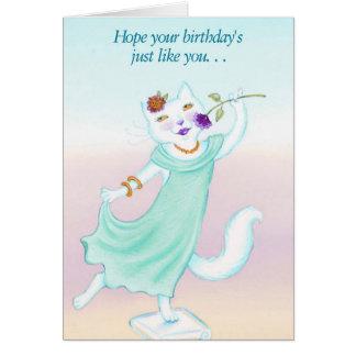 Cute Cat Sends A Birthday Card