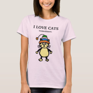 "Cute cat - ""sometimes"" T-shirt #1"