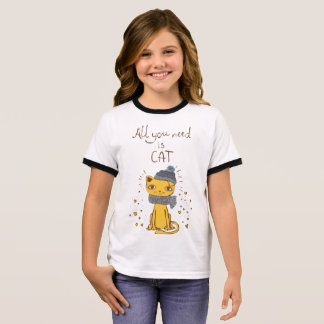 Cute Cat T-shirt: All You Need is Cat Ringer T-Shirt