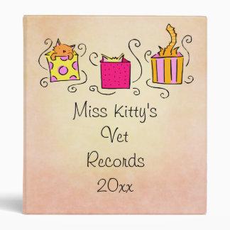 Cute Cat Vet Records Vinyl Binder
