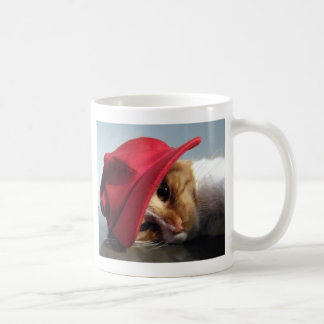 Cute Cat Wearing Red Cap Mug