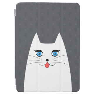 Cute cat with tongue sticking out iPad air cover