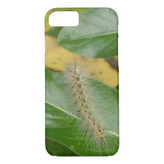 Cute Caterpillar on Green Leaf Case-Mate iPhone Case