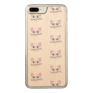 Cute Cats Apple iPhone 7 Plus Slim Maple Wood Case
