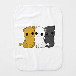 Cute cats burp cloth
