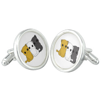 Cute cats cuff links