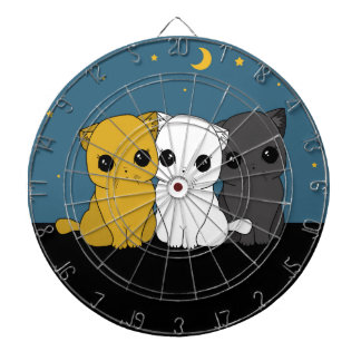 Cute cats dartboard