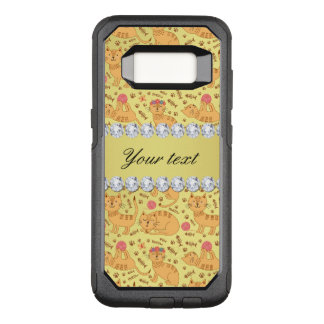 Cute Cats Faux Gold Foil Bling Diamonds OtterBox Commuter Samsung Galaxy S8 Case