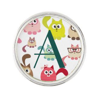 Cute cats,kid pattern,colorful,happy,fun,girly lapel pin