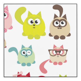 Cute cats,kid pattern,colorful,happy,fun,girly,tre