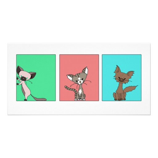 Cute Cats (Meet the Mews) Picture Card
