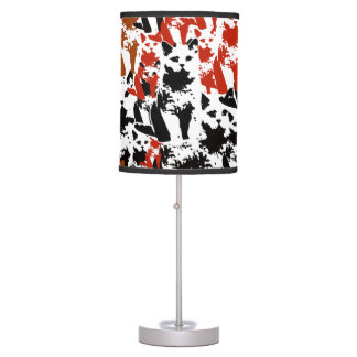 cute cats pattern art table lamp
