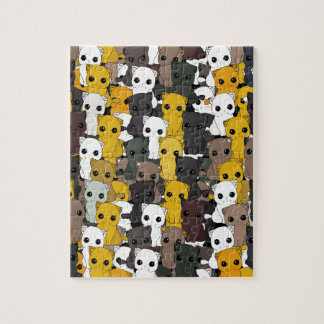 Cute cats pattern jigsaw puzzle
