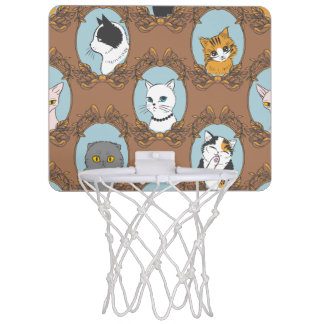 Cute Cats Pattern Mini Basketball Hoop