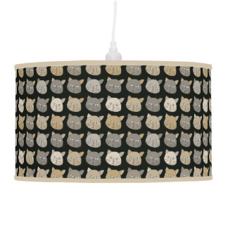 cute cats pattern pendant lamp