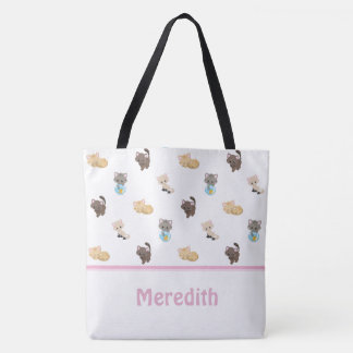 Cute Cats Pattern | Personalized Tote Bag