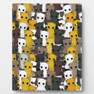 Cute cats pattern plaque