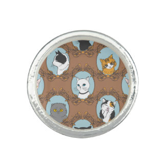 Cute Cats Pattern Ring