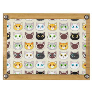 Cute Cats Pattern Round Cheeseboard