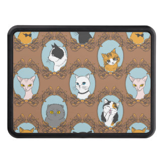 Cute Cats Pattern Trailer Hitch Cover